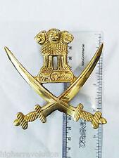 UNIVERSAL ROYAL BIKES BSA BRASS INDIAN SWARD ASHOK LION ARMY EMBLEM BADGE