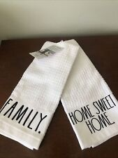 Rae Dunn Embroidered Valentine Kitchen Towels Set of 2 Hugs & Kisses