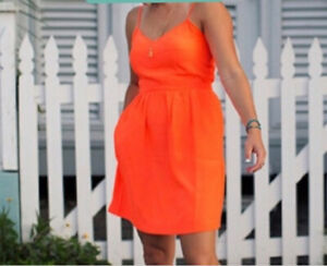 NEW J.Crew Fun & Flirty Sun Dress Size 8 Orange NWT $79.50