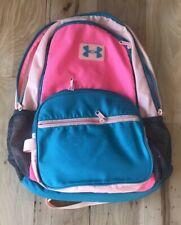 UNDER ARMOUR Blue Teal Pink Bookbag Backpack School Bag