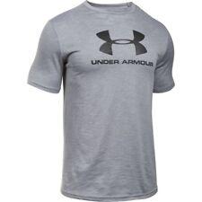 Under Armour Hombres Heatgear quien LOGO fitness camiseta t-shirt