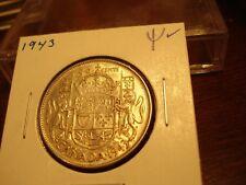 1943 - Canada - Silver 50 cent - Canadian half dollar