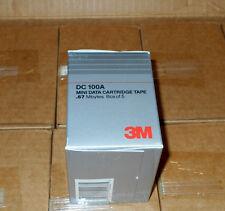 One Box of (5) 3M DC 100A Mini Data Cartridge Tapes, 0.67MB 140ft., 3200 ftpi