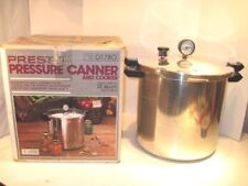 PRESTO 22 QUART 409 PRESSURE CANNER CANNING COOKER WITH GAUGE & BOX TESTED!