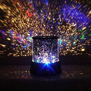 Night Light Star Starry Sky LED Projector Lamp Baby Kids Bedroom Projection New