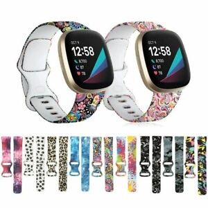 Replacement Silicone Sport Strap Watch Band For Fitbit Versa 3 / Versa Sense