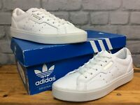 ADIDAS LADIES UK 6 EU 39 1/5 WHITE LEATHER SLEEK GOLD TRAINERS RRP £70 C