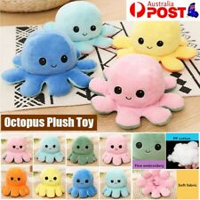 Double-Sided Flip Reversible Octopus Plush Toy Marine Life Animals Doll AU STOCK