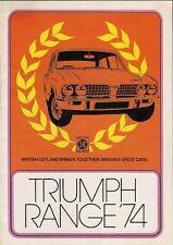 Triumph 1973-74 UK Brochure Stag TR6 GT6 2000 2.5 Spitfire Dolomite 1500 Toledo
