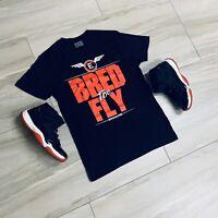 Tee to match Air Jordan Retro 11 Bred 11 Sneakers.FLY Tee