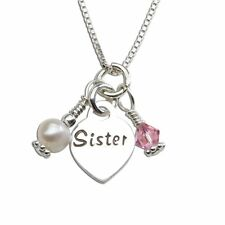Sterling Silver Sister Cluster Necklace By Cherished Moments