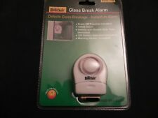 2 - Glass Break Alarms - Easy to Install with Double Sided Tape  12 Volt Battery