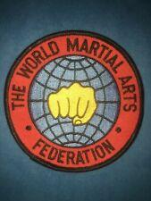 Vintage 1980's The World Martial Arts Federation Gi Uniform Jacket Patch 683