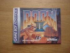 Doom II  gameboy PAL UKV manual only