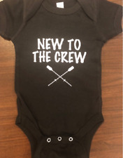 New to the crew baby shirt rowing one piece future rower row infant bodysuit