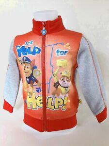 Jungen Sweatshirtjacke PAW Patrol Sweatjacke Jacke Oberteil Größe 2 Jahre