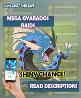 Pokemon GO  MEGA GYARADOS -  3 RAIDS + 1 FOR FREE ✨ SHINY CHANCE ✨