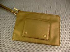 BODHI Bronze Metallic Leather Small Clutch Wristlet Purse Handbag~NWOT