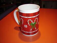 Large Christmas Coffee/Cocoa Mug Candy Cane and Bow Design Hobby Lobby