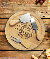 Personalised Birthday Gift for Him, for Her, Funny Cheese board With Knife Set