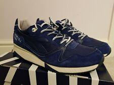 Dettagli su DIADORA V7000 Italia in pelle scamosciata grigio blu lacci sneaker uomo C6282 B0C mostra il titolo originale