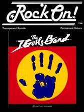 13091 J.Geils Band Handprint Logo VINTAGE 1980s Retro Rare Transparent Sticker