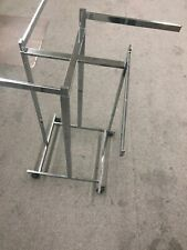 4 Way Clothing Rack Straight Arms Chrome  Adjustable