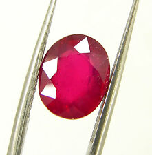 4.05 Ct Certified Beautiful Natural Ruby Loose Oval Gemstone Stone - 118063