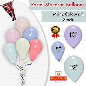 100 Quality Pastel Finish Balloons Small Round Latex Easter Candy Macaron Balons