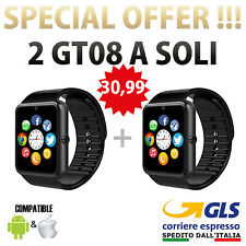 OROLOGIO Telefono iPhone ANDROID IOS BLUETOOTH SMARTWATCH 2 X GT 08 NERO SMART