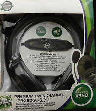 Xbox 360 Premium Twin Channel Pro Edge XT2 Stereo Gaming Headset & Mic Gameon