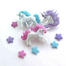 Novelty Magical Unicorn buttons x 3 buttons 9- 32mm for decoration