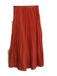 Banana Republic Pleated Poplin Maxi Skirt, Coral Beach SIZE 8     #547978 T1219H
