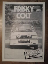 MITSUBISHI COLT LANCER 2000 TURBO orig 1980 UK Mkt Road Test Brochure