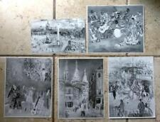 Lot of 5 B/W Photographs Photos Prints of Art by Jean Dufy
