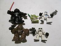 Star Wars 5 figures lot 2001-2004 Galactic Heroes Yoda Darth Vader Clone Trooper