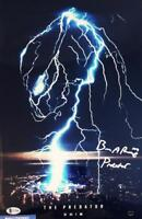 BRIAN A PRINCE THE PREDATOR SIGNED 11x17 METALLIC PHOTO BECKETT BAS COA 208
