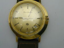 RARE MARC NICOLET AUTOMATIC 20 MICRON GOLD CASE EXCELLENT RUNNING