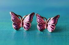 One Pair - Butterfly Stud Earrings with gift bag