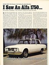 1969 Alfa Romeo 1750  Road Test Original Car Review Print Article J704