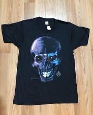 '91 Rare Screen Stars Shirt Neon Skull Never Worn Terminator Style Headbone Vtg