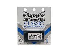 50 Wilkinson Sword CLASSIC Double Edge Razor Blades  10 packs of 5 = 50