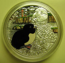 2014 Proof $20 Baby Animals #2-Atlantic Puffin Canada .9999 silver COIN ONLY