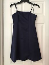 david's bridal bridesmaid dress Navy Blue Spaghetti Straps Sz 8