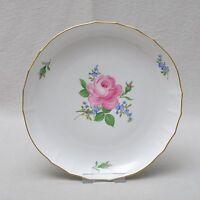 Meissen Rote Rose und Vergissmeinnicht, Kuchenschale 28.cm 1.Wahl, TOP