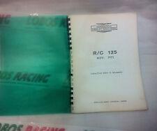 CATALOGO RICAMBI ORIGINALE HARLEY DAVIDSON R/C 125 1971 SPARE PARTS VINTAGE