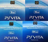 SONY GENUINE Playstation PSV PS Vita Memory Card Formatted 64GB,32GB,16GB,8GB