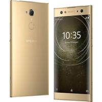 "New Sony Xperia L2 Gold 32GB 4G LTE 5.5"" LCD GPS WIFI 13MP Unlocked Smartphone"