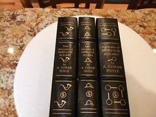 Adventures of Sherlock Holmes Easton Press three volume set