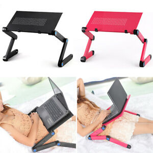 Folding Laptop Computer Desk Stand Tray Holder Table Bed Sofa Portable Furniture